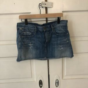 Citizens of humanity low rise jean skirt size 28
